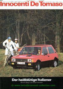 Innocenti De Tomaso 1981-07 Prospekt 001-001h