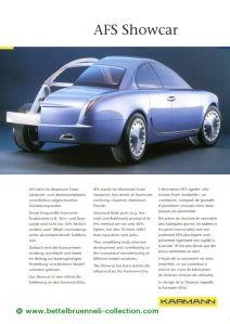 Karmann AFS Showcar 1999 Prospekt 001-001