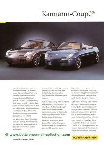 Karmann Coupé Concept 1999 Prospekt 001-001