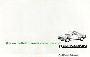 Karmann Ford Escort Cabriolet Prospekt 001-001