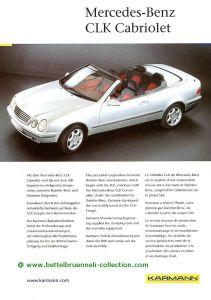 Karmann Mercedes-Benz CLK Cabriolet A208 Prospekt 001-001