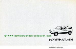 Karmann VW Golf I Cabriolet Prospekt 001-001