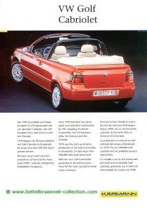 Karmann VW Golf IV Cabriolet Prospekt 001-001
