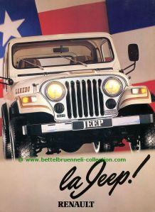 Renault Jeep CJ-7 1982 Prospekt 001-001h
