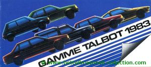 Talbot Modellprogramm 1983 Prospekt 001-001h
