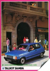 Talbot Samba 1983 Prospekt 001-001h